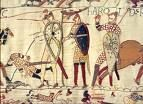 Bayeux Tapestry: King Harold Plucking an Arrow From His Eye