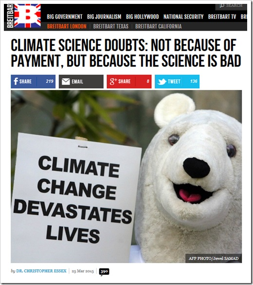 Climate change science is bad