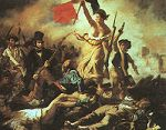 'Liberty Leading the People' by Eug�ne Delacroix (1798-1863), 1830