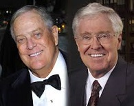 Koch Brothers Charles G. Koch (1935-) and David H. Koch (1940-)
