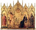 'The Annunciation with St. Margaret and St. Asano'by Simone Martini (1284-1344), 1333
