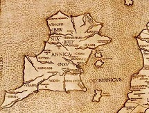 Map of Ireland by Claudius Ptolemy of Alexandria (90-168)