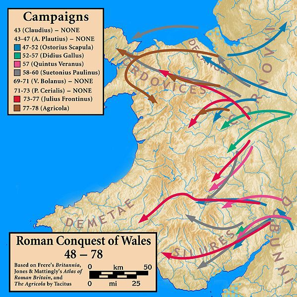 Roman Conquest of Wales, 48-78